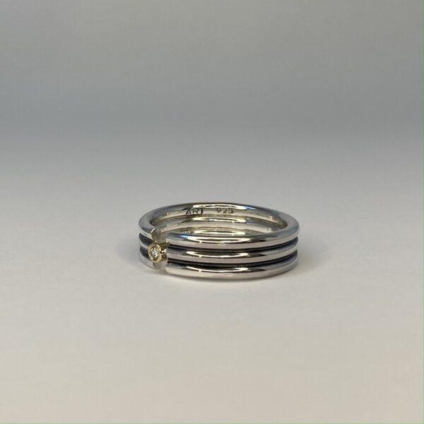 sølv med diamant
